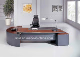 Half Circle Round Coffee Table Attached Office Desk (HX-NT3006)