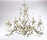 Russia Top Sale Floral Pink and Light Green Chandelier