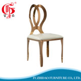 Hot Sell Design Rose Gols Stainless Steel Chairs for Wedding Party Used