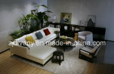 Italian Modern Style Living Room Leather Sofa Furniture (D-71)