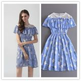 Fashion Lady Clothes Summer Print Floral Sweet Party Dress