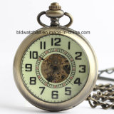 Hot Glow in The Dark Pocket Watch with Magnifying Glass