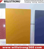 Exterior Aluminum Composite Wall Board in Golden Texture
