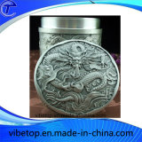 Cheap Price Tin Tea Caddy with Carving Crafts