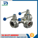 Stainless Steel Multi Control T Type Three Way Butterfly Valve