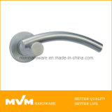 Stainless Steel Door Handle on Rose (S1126)