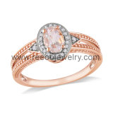 925 Sterling Silver Jewelry Rose Gold Plated Ring
