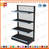 Single Sided Metal Back Wire Net Supermarket Wall Shelf (Zhs42)