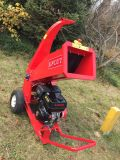 Cell Starter 4 Inch 13 HP Mobile Wood Chipper Tree Shredder