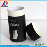 Custom Black Round Cardboard Paper Socks Packaging Box