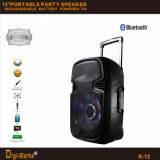 12′′ Mobile Party DJ Outdoor Karaoke Trolley Bluetooth Active Speaker