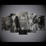 HD Printed Indian Characters Black and White Painting Canvas Print Room Decor Print Poster Picture Canvas Mc-045