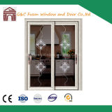 Automatic Sliding Door with Flower Decorations