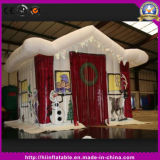 2016 Hot Selling Outdoor Christmas Decoration LED Lighting Inflatable Santa Castle for Party