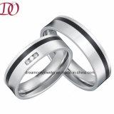 Black Enamel Surgical Steel Rings Pair Hot Sale Top Quality Love Rings