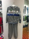 Fleece Boy Tracksuits with Zipper and Hood in Kids Clothes Sq-6653
