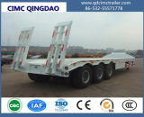 Cimc Transportation Truck and Tandem Axle Lowbed Semi Trailer