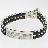 Fashion Stainless Steel Leather Bracelets (BC8815)