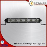 7inch 18W CREE Mini Single Row LED Lightbar Light for 4X4