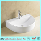 Ceramic Art Top Mounted Semicircle Hand Wash Basin