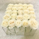 New Arrival Clear Acrylic Luxury Flower Gift Box with Cover
