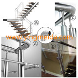 Stainless Staircase Stairs Baluster Handrail Support Ss Handrail Fittings Pipe Connector Fittings