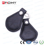 Contactless Leather Key Fob 13.56MHz Access Control Keyfob
