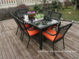 Rattan Table & Chair Set, Choice of Colour/7-Piece Rattan Garden Furniture/Dining Set
