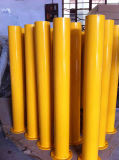 Yellow Bollards for Traffic Control