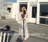 Female Chiffon Blouse Autumn Hollow out Lace Blouse Long Sleeve Women Shirt Top Blouse