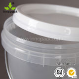 Clear Transparent Bucket Pail with Lid Food Grade Round Pail for Sale