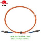 2.0mm Mu/PC-Mu/PC Simplex Multimode 62.5 Om1 Fiber Optic Patch Cord