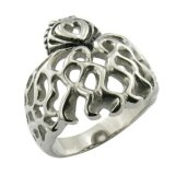 Stainless Steel Jewelry Skull Ring