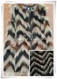 Wavy Jacquard Faux Fur for Garment
