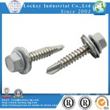 Hex Washer Head Self Drilling Screw with Neo / Rubber / EPDM Bonded Washer