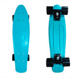 22inch PP Mini Skateboard Cruiser Complete Skateboards Banana Skateboard Plain Lain Blue-18