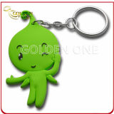 Hot Sale Plastic Green Angel Soft PVC Keychain