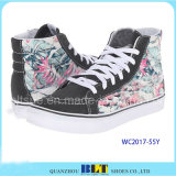 Flower Pattern Lace-up Canvas Shoes for Women