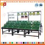 Metallic Retail Supermarket Vegetable Fruit Storage Shelving Rack Fixtures Zhv45