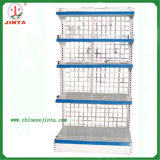 Grid Back Panel Metal Material Wall Shelving (JT-A33)