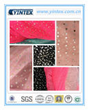 100% Soft Mesh Foil Printed Polyester Fabric