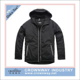 Men Hot Sale Hooded Winter Padded Jacket with Contrast Zip