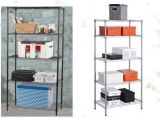 2015 Hot Sell 150kgs 72X24 Inch 5 Layer Black Epoxy Supermarket Display Shelf (YB-WS031)