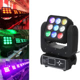 9pcsx 10W RGBW LED Moving Head Matrix Blinder Stage Light