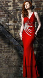 Ladies Delicated Night Banquet Dress with Sequins Hand Sewn