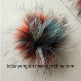 Dryed Colorful Raccoon Fur Ball