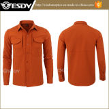 Orange Esdy Tactical Warmful Fleece Softshell Men Shirts