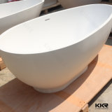 White Solid Surface Sanitary Ware Freestanding Bathtub