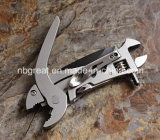 Multi-Functional Adjustable Wrench with Pliers
