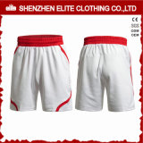Men′s Comfortable Professional Soccer Shorts White (ELTSSI-20)